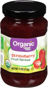 Great Value™ Organic Strawberry Fruit Spread 11 oz. Jar