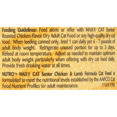 Nutro® MAX® CAT Senior Chicken & Lamb Formula Cat Food 5.5 oz. Can