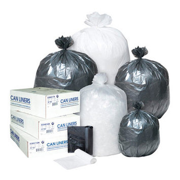 Inteplast Group 60 Gallon High Density Can Liner, 12 Micron in Clear