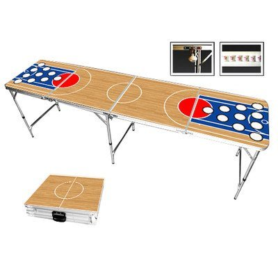 Red Cup Pong Basketball Beer Pong Table in Standard Aluminum