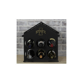 Hensonmetalworks 6 Bottle Tabletop Wine Rack NCAA Team: Iowa State
