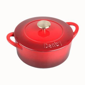 Denby Cook and Dine 7.39-qt. Cast Iron Round Casserole Color: Cherry