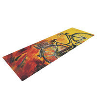 Kess Inhouse To Go by Josh Serafin Bicycle Yoga Mat