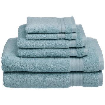 Chambray & Co. Cotton 6 Piece Towel Set Color: Glacier