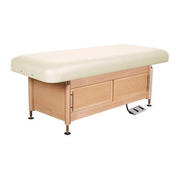 Oakworks Clinician Electric Hydraulic Flat Top with Cabinet Color: Opal
