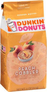 dunkin' donuts® peach cobbler ground coffee