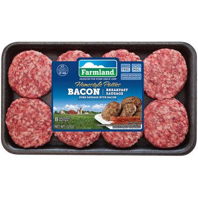 Farmland® Bacon Breakfast Sausage Homestyle Patties 8 ct Tray