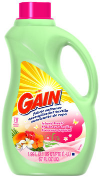 Gain with FreshLock Island Fresh Liquid Fabric Softener 67 fl. oz. Bottle