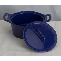 Omniware Stoneware Round Casserole Size: Small, Color: Cobalt Blue