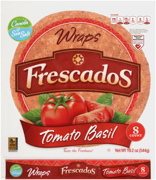 Frescados Tomato Basil Wraps 8 ct. Bag