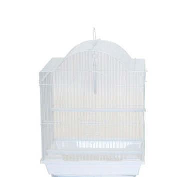 Yml Cornerless Round Top Shape Bird Cage Color: White