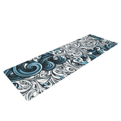 Kess Inhouse Celtic Floral II by Nick Atkinson Abstract Yoga Mat