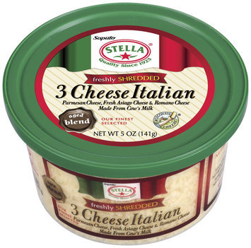 Stella® Freshly Shredded 3 Cheese Italian 5 Oz Plastic Tub