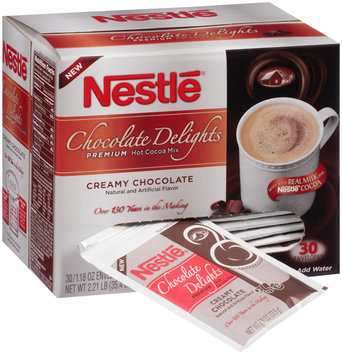 Nestlé Chocolate Delights Creamy Chocolate Hot Cocoa Mix 30-1.8 oz. Envelopes