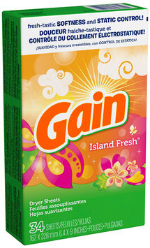 Gain® Island Fresh Fabric Softener Sheets 34 ct Box