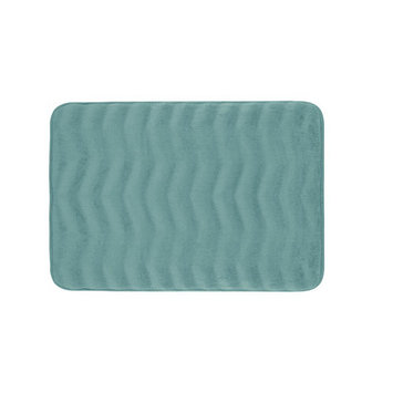 Bath Studio Waves Premium Micro Plush Memory Foam Bath Mat