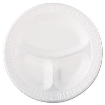 Amrep 3 Compartment Foam Plastic Plate