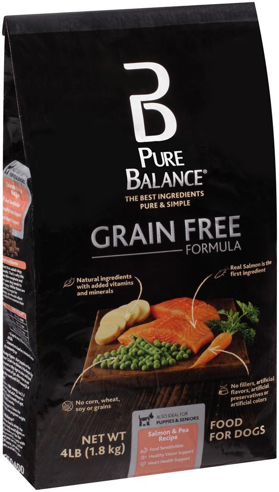 Pure Balance® Grain Free Formula Salmon & Pea Recipe Dog Food 4 lb. Bag