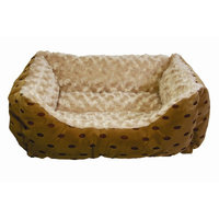 Happy Tails Polka Dot Cuddler with Swirl Dog Bed - 17L x 20W in.