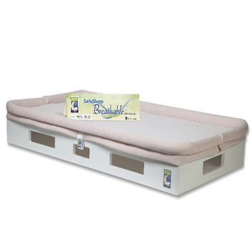 Secure Beginnings Extra Breathable Sleep Surface- Light Pink