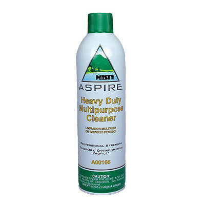 Misty Aspire Heavy-Duty Multipurpose Cleaner, Lemon Scent, 16 oz. Aerosol Ca