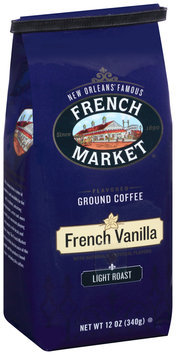 French Market® Light Roast French Vanilla Flavored Ground Coffee 12 oz. Bag