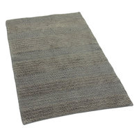 Textile Decor Castle 100% Cotton Wide Cut Reversible Bath Rug, 24 H X 17 W, Stone