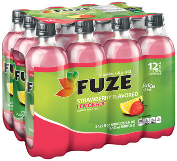 Fuze® Strawberry Flavored Lemonade 12-16.9 fl. oz. Plastic Bottles
