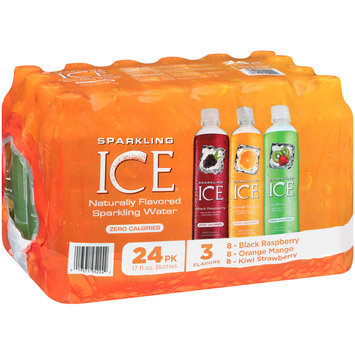 Sparkling Ice® Black Raspberry/Cherry Limeade/Orange Mango/Kiwi Strawberry Sparkling Water 12-17 fl. oz. Plastic Bottles