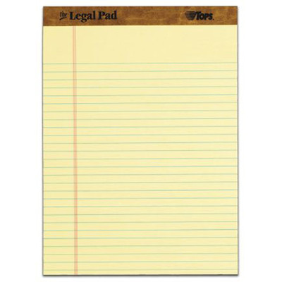 Tops 30 pt. Perforated Legal Rule Legal Pad