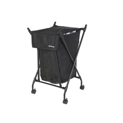 Cozycozy Belly Lifter Hamper LH1002 Spring Loaded Laundry Hamper Black with Gold