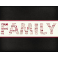 Secretly Designed Words For A Father Wall Art Print, 14 H x 11 W x 0.25 D