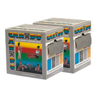 CanDo 10-5496 Low Powder Exercise Band 100 Yard 2 x 50-Yd Rolls Silver XX-Heavy