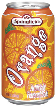 Springfield Orange  Flavored Soda 12 Oz Cans