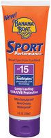 Banana Boat Sport Performance Sunblock Lotion SPF 15 W/High UVA 8 Oz/ Sport U.S. (79656 00246) 236 mL Tube