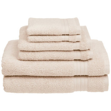 Chambray & Co. Cotton 6 Piece Towel Set Color: Vanilla