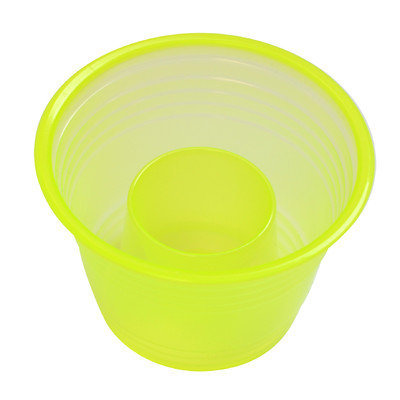 Fineline Settings, Inc Quenchers Disposable Plastic 1 oz. Neon Blaster (500/Case), Yellow