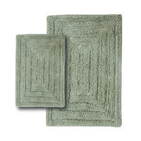Textile Decor Castle 2 Piece 100% Cotton Racetrack Spray Latex Bath Rug Set, 34 H X 21 W and 40 H X 24 W