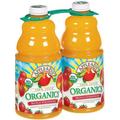 Apple & Eve Organics Mango Strawberry 64 Oz 100% Juice 2 Ct Plastic Bottles
