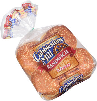 Cobblestone Mill® Sesame Sandwich Rolls 8 ct Bag