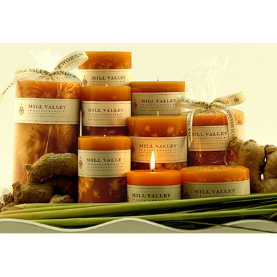 Mill Valley Candleworks Ginger Lemongrass Scented Novelty Candle Size: 3