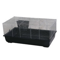 A & E Cage RB100 Green Rabbit And Guinea Pig Cage - Beige Base With White Wire