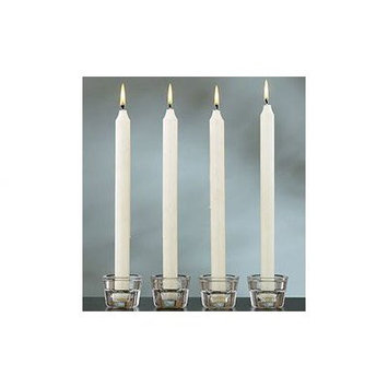 Light in the Dark LITD-T5-144 White Taper Candles 6 Inch Burn 5 Hours, 144 Candles