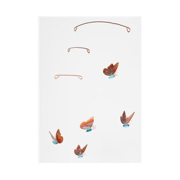 Timberbayhome & Garden Butterfly Mobile Color: Blue