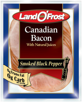 Land O' Frost Canadian Bacon Smoked Black Pepper Canadian Bacon 6 Oz Peg