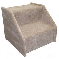 Animal Stuff Bear's Stairstm Mickeys Two-Step Carpeted Pet Stairs - Color: Gray