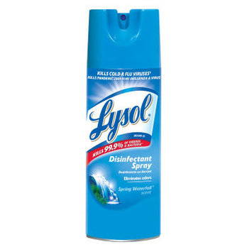 Lysol 12 oz. Aerosol Can Disinfectant Spring Waterfall Spray