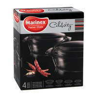Lancaster Colony GD16728939 Round Casseroles with Lids, 4 pc set, Gift Box, pk 6 st