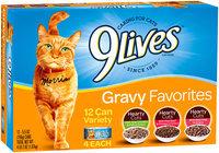 9 Lives® Gravy Favorites Cat Food Variety Pack 12-5.5 oz. Cans