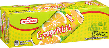 Springfield® Grapefruit Soda 12-12 fl. oz. Cans
